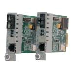 iConverter GX/T - Fiber media converter - GigE - 10Base-T, 100Base-TX, 1000Base-T, 1000Base-X - RJ-45 / ST multi-mode - up to 1800 ft - 850 nm