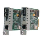 iConverter GX/T - Fiber media converter - Gigabit Ethernet - 10Base-T, 1000Base-LX, 100Base-TX, 1000Base-T - RJ-45 / ST single-mode - up to 7.5 miles - 1310 nm