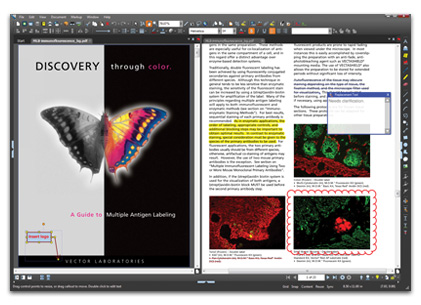 overlay pdf in blue beam