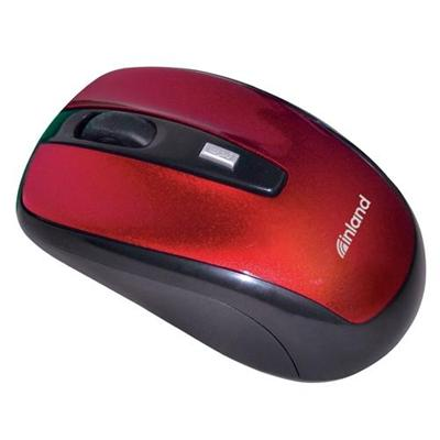 Inland Products2.4GHz Wireless Optical Mouse - Burgundy(07444)