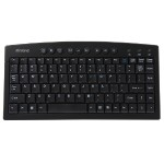 Inland Products Mini Multimedia - Keyboard - USB - black, silver 70141