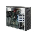 Supermicro SC732 D2-500B - Mid tower - extended ATX 500 Watt - black - USB/Audio