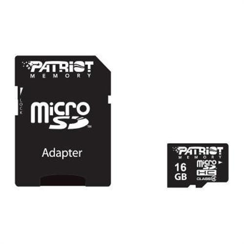 Patriot Memory 16GB MicroSDHC Class 4 Flash Memory Card with Standard SD Adapter