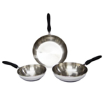 Set of 3 Stainless Steel Fry Pan