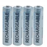 PRO 410B - Battery 4 x AAA type NiMH 1000 mAh - silver