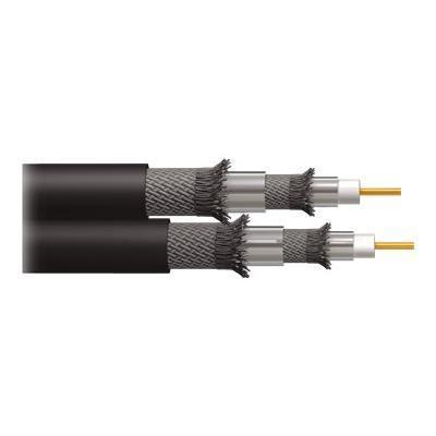 Cables To Go Dual RG6/U Quad Shield In Wall Coaxial Cable - antenna cable - RF - 250 ft (43066)