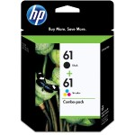 HP Inc. 61 2-pack Black/Tri-color Original Ink Cartridges CR259FN#140