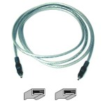 IEEE 1394 cable - 4 pin FireWire (M) to 4 pin FireWire (M) - 3 ft - molded - clear - B2B