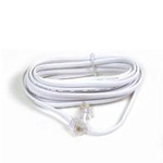 Phone cable - RJ-11 (M) to RJ-11 (M) - 12 ft - white