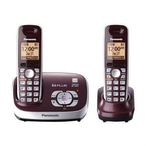 Panasonic KX TG6572R - cordless phone - answering system with caller ID/call waiting + additional handset