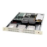 Supermicro SC812L 520C - Rack-mountable - 1U - extended ATX 520 Watt - black