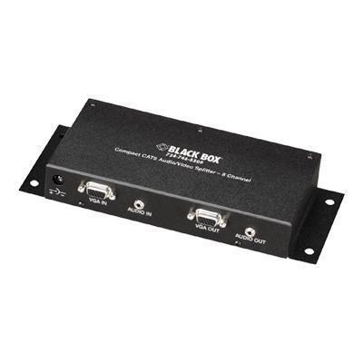 Black BoxCompact CAT5 Audio/Video Splitter - video/audio splitter - 8 ports - desktop(AC154A-8)