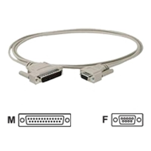 Black Box Standard PC/AT Modem Cable serial cable - 10 ft