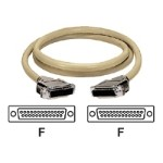 ED/Q with Die-Cast Removable Metallic EMI/RFI Hoods - Serial cable - DB-25 (F) to DB-25 (F) - 19.7 ft - stranded