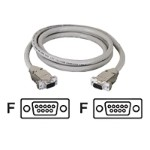 Serial extension cable - DB-9 (F) to DB-9 (F) - 25 ft