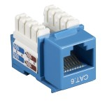 Value Line CAT6 - Modular insert - RJ-45 - blue (pack of 10)