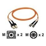Patch cable - SC multi-mode (M) to ST multi-mode (M) - 10 ft - fiber optic - 62.5 / 125 micron - riser