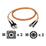 Patch cable - SC multi-mode (M) to ST multi-mode (M) - 33 ft - fiber optic - 62.5 / 125 micron - riser