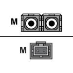 Patch cable - SC single-mode (M) to MT-RJ single-mode (M) - 6.6 ft - fiber optic - 9 / 125 micron