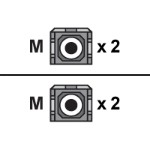 Patch cable - SC multi-mode (M) to SC multi-mode (M) - 3.3 ft - fiber optic - 50 / 125 micron