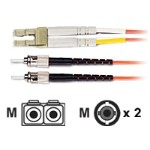 Economy - Patch cable - ST multi-mode (M) to LC multi-mode (M) - 10 ft - fiber optic - 62.5 / 125 micron - riser