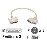 Black Box Keyboard / video / mouse / audio cable - 6 pin PS/2, HD-15, mini-phone 3.5 mm (F) to DB-25 (M) - 50 ft - for ServSwitch Ultra EHN383A-0050