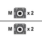 Patch cable - SC multi-mode (M) to SC multi-mode (M) - 6.6 ft - fiber optic - 50 / 125 micron
