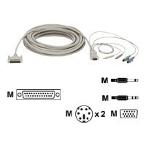 Black Box keyboard / video / mouse / audio cable - 35 ft