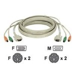 Premium - Keyboard / video / mouse (KVM) cable - 6 pin PS/2, HD-15 (F) to 6 pin PS/2, HD-15 - 19.7 ft - stranded - for ServSwitch Duo