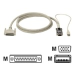 Keyboard / video / mouse (KVM) cable - USB, HD-15 (M) to DB-25 (M) - 75 ft - for ServSwitch Affinity, Matrix, Ultra