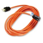 Indoor/Outdoor Utility Cord Heavy-Duty - Power extension cable - NEMA 5-15 (M) to NEMA 5-15 (F) - 25 ft - indoor, outdoor - orange - for P/N: DSKTPLEC, ELTC16, ELTC16D, LTD8, MSC100, NBC20S, NBC26S, NBC27XB, NBC30, NBC32S