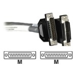 Black Box RS-530 Data Cable - Serial RS-530 cable - DB-25 (M) to DB-25 (M) - 5 ft - shielded - black, beige EVN530-0005-MM