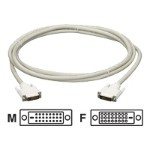 DVI extension cable - DVI-D (M) to DVI-D (F) - 6 ft