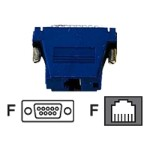 Colored Modular Adapter - Network adapter - DB-9 (F) to RJ-11 (6 pin) (F) - blue