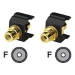 Audio coupler - RCA (F) to RCA (F)