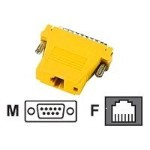Colored Modular Adapter - Network adapter - DB-9 (M) to RJ-11 (6 pin) (F) - yellow