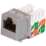 GigaBase2 CAT5e Jack, Universal Wiring, Gray, 25-Pack