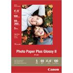 Photo Paper Plus II - Glossy photo paper - 4 in x 6 in 100 sheet(s) - for PIXMA iP100, iP2600, iP3500, iP4500, mini320, MP520, MX310, MX700, MX7600, MX850, Pro9000