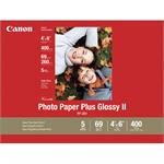 Photo Paper Plus II - Glossy photo paper - 4 in x 6 in 400 sheet(s) - for PIXMA iP2600, MP550, MP560, Pro9000 Mark II