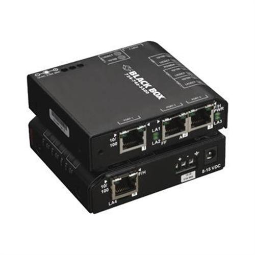 Black Box Convenient Switch Extreme 24 VDC - switch - 4 ports - desktop
