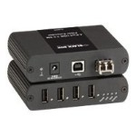 Black Box USB Ultimate Extender - USB extender - USB 2.0 - 4 ports - up to 6.2 miles IC406A-UK