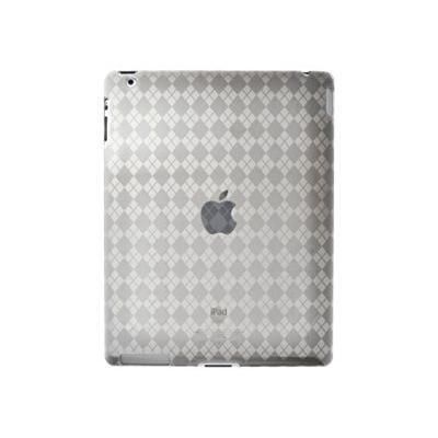 Amzer Luxe Argyle High Gloss TPU Soft Gel Skin Case - Clear For Apple iPad 2 (90783)