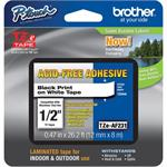 Brother TZe231 - Laminated tape - black on white - Roll (0.47 in x 26.3 ft) 1 roll(s) - for P-Touch PT-1290, 3600, D400, D600, H110, H500, P300, P700, P750; P-Touch EDGE PT-P750 TZE-AF231