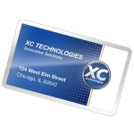 Business Card Self-Adhesive Pouches - 5 - 2.35 in x 3.86 in lamination pouches with adhesive back
