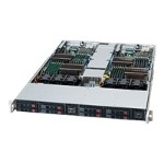 Supermicro SC809 T-1200B - Rack-mountable - 1U - up to 2 blades - SATA/SAS - hot-swap 1200 Watt - black