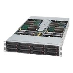 Super Micro Supermicro SC827 H-R1200B - Rack-mountable - 2U - up to 4 blades - SATA/SAS - hot-swap 1200 Watt - black CSE-827H-R1200B