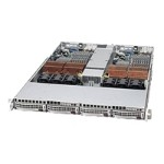 Supermicro SC808 T-980B - Rack-mountable - 1U - up to 2 blades - SATA/SAS - hot-swap 980 Watt - black