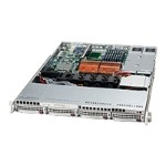 Super Micro Supermicro SC815 S-R650B - Rack-mountable - 1U - extended ATX - SCSI - hot-swap 650 Watt - black CSE-815S-R650B