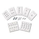 Premise Plus Multimedia Keystone Wall Plate - Mounting plate - ivory - 3 ports