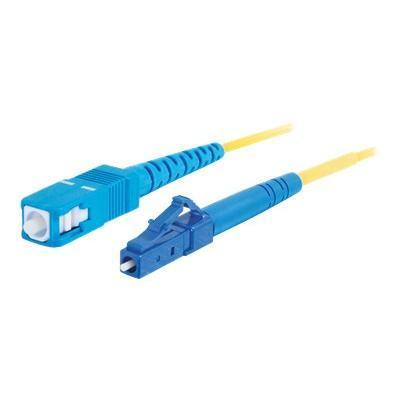 Cables To Go LC-SC 9/125 OS1 Simplex Singlemode PVC Fiber Optic Cable - patch cable - 30 ft - yellow (34712)
